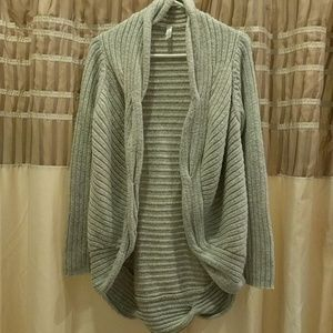 Gap body knitted gray cardigan sweater